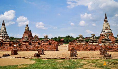 ภาพเขียนจิตกรรมฝาผนัง ณ วัดไชยวัฒนาราม Wat Chai Watthanaram