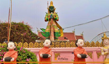 วัดหาดชมพู Wat Hat Chumphu บ้านหาดชมพู ต.ท่าตอน อ.แม่อาย จ.เชียงใหม่